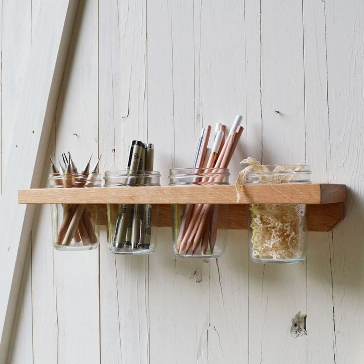 Reclaim Wall Caddy from dotandbo.com. Simple and smart idea. And there's no shortage of jars around right now... cww