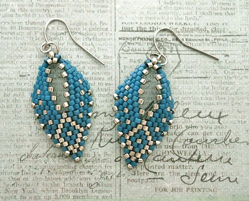 Linda's Crafty Inspirations: Russian Leaf Earrings - Juniper Berry & Light Pewter