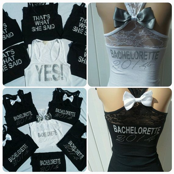 4 Thats what she said tank top. Thats what she said shirt. Bachelorette party tank. Bride shirt.lace tank top on Etsy, $84.00