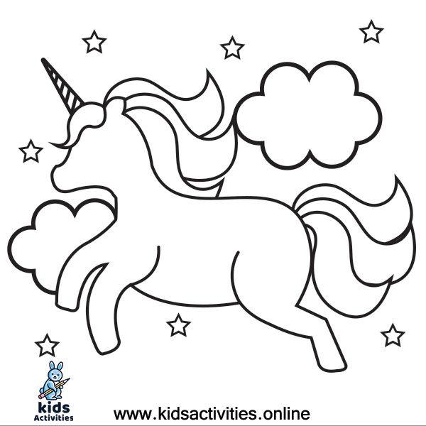 Coloring Unicorn Cute