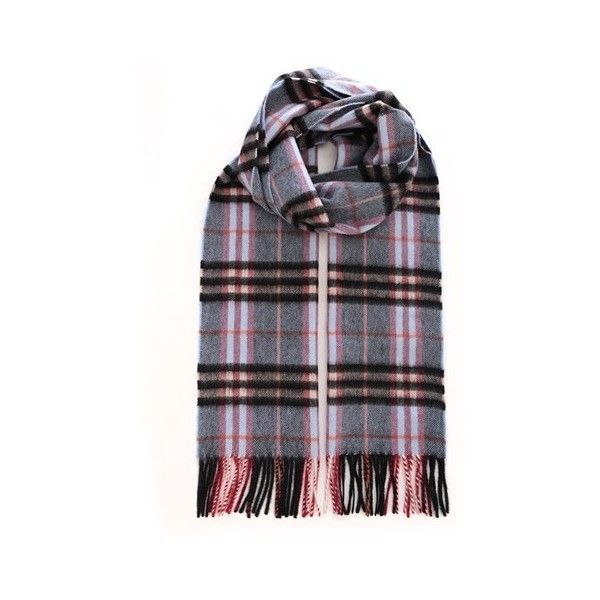 BURBERRY Castleford Checked Scarf (1.450 BRL) ❤ liked on Polyvore featuring men's fashion, men's accessories, men's scarves, grey, mens cashmere scarves, mens plaid scarves and burberry mens scarves