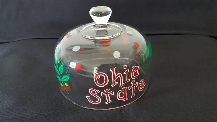 A personal favorite from my Etsy shop https://www.etsy.com/listing/549059201/ohio-state-food-dome-painted-food-dome