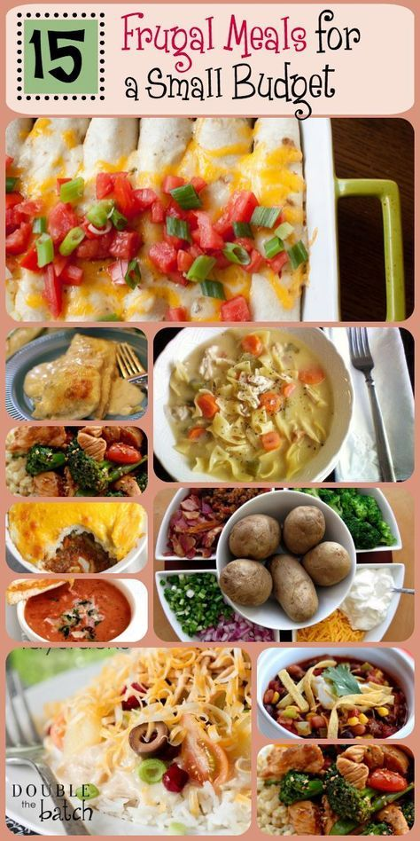 Wondering what to make for dinner when money is tight? We got you covered! Here are 15 of my family's favorite meals. Delicious and frugal too!