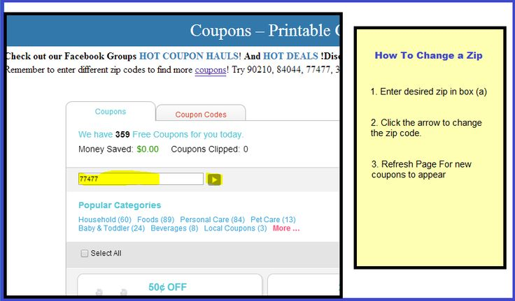 **BOOKMARK THIS** A great way to find coupons that you would not normally know about is by changing zip codes. This used to be much easier than it is now on Coupons.com. However, with our Savings Center, it is VERY easy! All you have to do is follow the simple steps below. Here are a few …