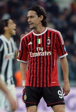 """Filippo Inzaghi: 2001 to 2012. Superpippo! 70 goals in the CL, titles galore, returned successfully from cruciate ligament damage and smashing face first into a keeper's foot. """"I was not born Ronaldinho, but thanks to strong will I managed to touch the sky."""""""