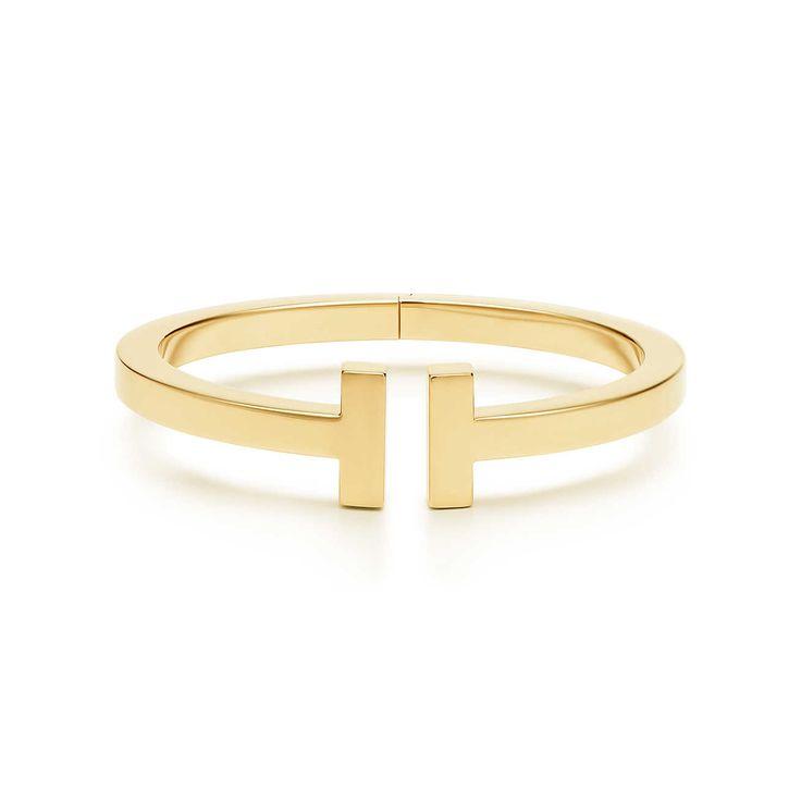 Tiffany T medium square bracelet in 18K gold   Tiffany & Co.