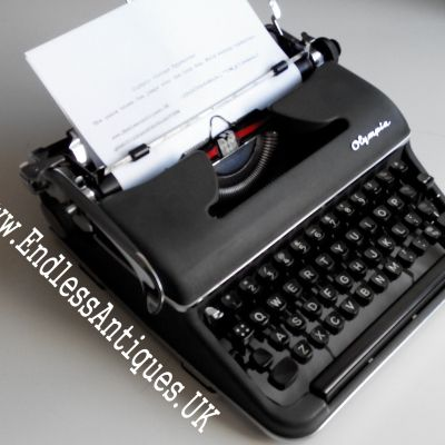1960's Olympia SM3 manual typewriter. On sale at www.endlessantiques.UK! #endlessantiques #typewriter #typewriters #vintage #vintagedecor #vintagesale #retro #olympia #german #london #uk