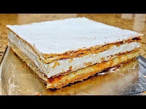 Tarta de Hojaldre con Manzana y Crema - magnífica - YouTube