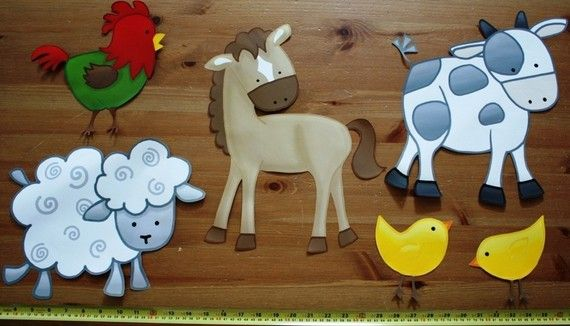 Hey, I found this really awesome Etsy listing at http://www.etsy.com/listing/61090767/set-of-6-farm-animal-childrens-bedroom