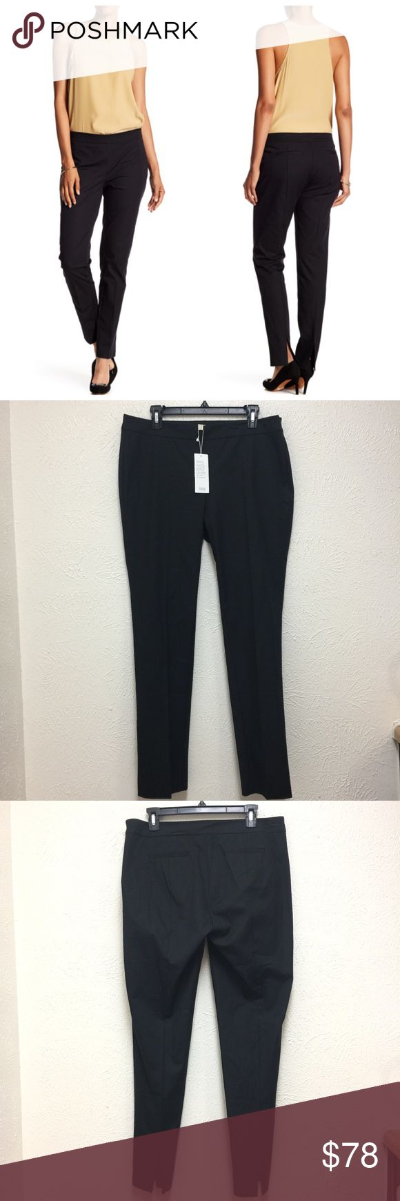 Eileen Fisher Black Slim Trousers Size M New with tag.  Women size M Retail: $158 plus tax  ❌NO Trade.  ❌Lowball Offer Will be IGNORED&BLOCKED.  ⚡️Serious Buyer ONLY⚡️NO DRAMA! ⭐️Same/next day shipping via USPS ⚠I video record all sales from packing to shipping so we are both protected ⚠ Eileen Fisher Pants Trousers