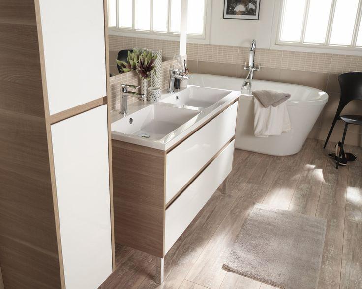 Les 34 meilleures images propos de salle de bain sur for Meubles de salle de bain castorama
