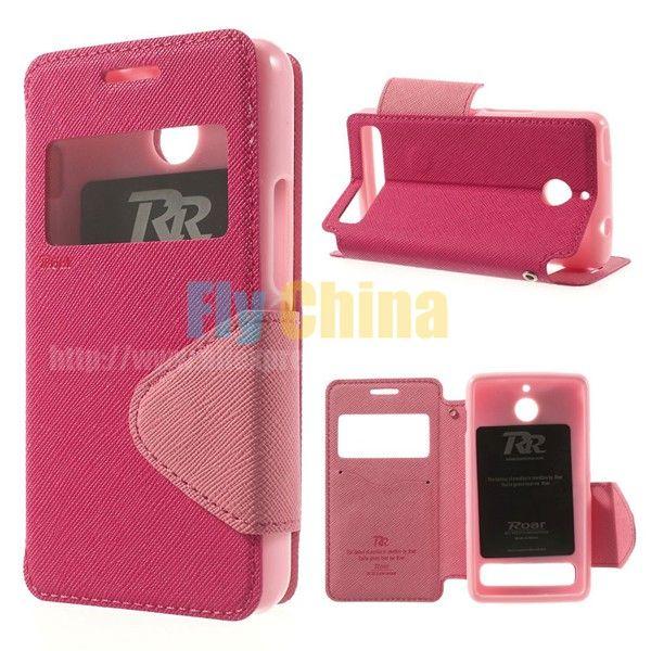 For Sony Xperia E1 Case Original Roar Korea Diary View Window Leather Case for Sony Xperia E1 D2004 D2005 / E1 Dual D2105 D2114
