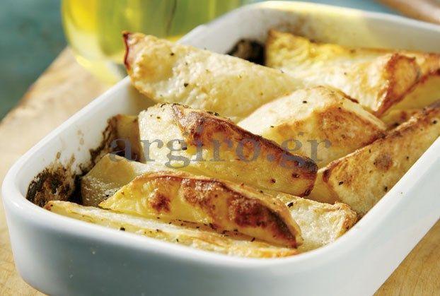 Μελωμένες πικάντικες πατάτες φούρνου