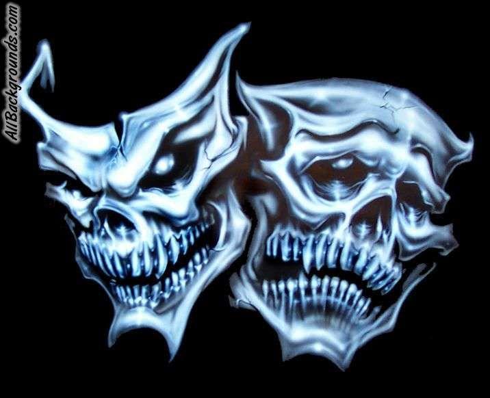Skull Drama Face Tattoo: Google Image Result For Http://static.allbackgrounds.com