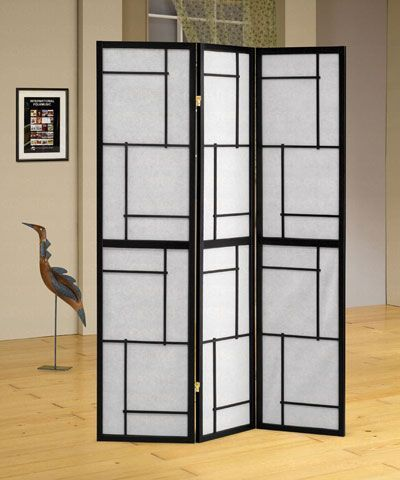 3 Panel Black Folding Screen / Room Divider By Coaster   900102 Folding  Screens, Room Dividers This Room Divider Is Great For Sectioning Off Any  Space