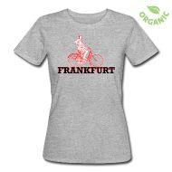 T-Shirts ~ Frauen Bio-T-Shirt ~ Frauen Öko T-Shirt Fahrrad Frankfurt
