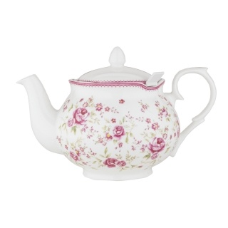 Vintage Rose 6-Cup Chatsford Filter Teapot | English Teapots | Fine Bone China Teapots | Whittard of Chelsea US