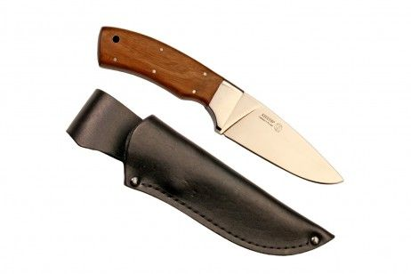 """SOBOL KIZLYAR KNIFE WALNUT """"Sobol"""" is the Russian name for the sable, a typical inhabitant of the Siberia taiga.Sobol is a traditional utility knife designed for processing small and medium-size game animals, cooking and wide range of campsite task. #sable #knife #Islamic #Turkey #Armenia #Persia #India #blade #kitchen #Kizlyar #Lis #walnut #rubber-plastic #leather #sheath #belt #weapons #butt #cutting #sharpening #anti-friction #pommel #lanyard #Scandinavian"""