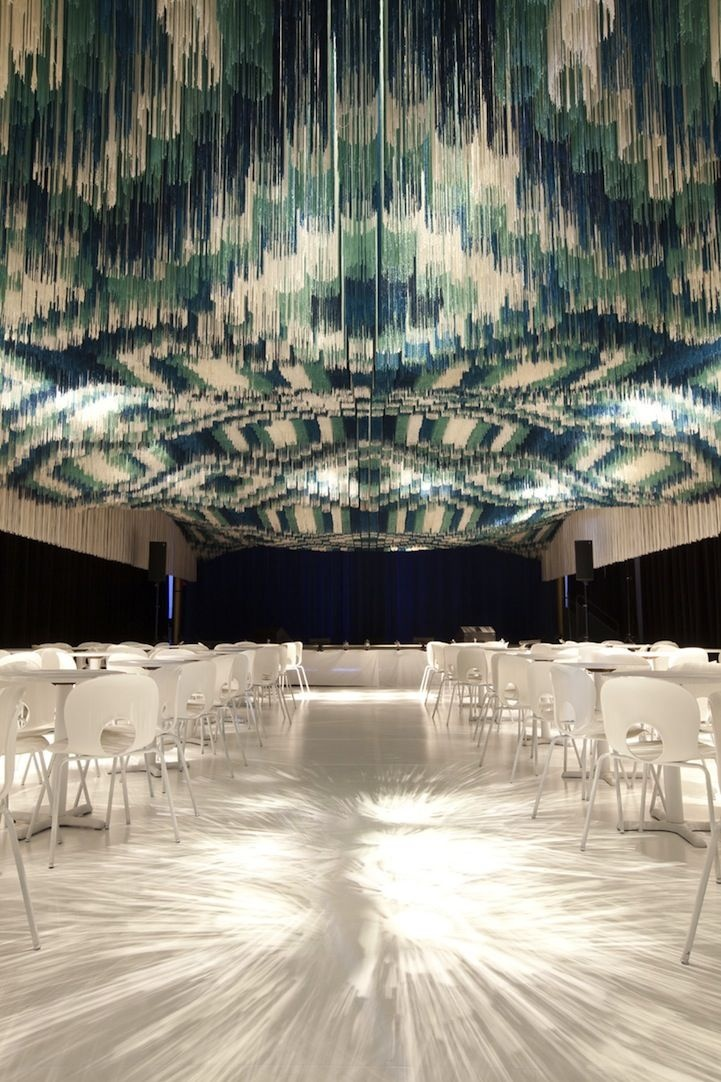 FRINGE CEILING - Serie Architects designed The Monsoon Club at the Kennedy Center