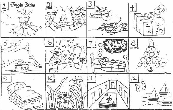 christmas puzzles brain teasers printable here are 24 images representing songs celebrating christmas see if quick meal ideas pinterest brain - Holiday Printable Puzzles