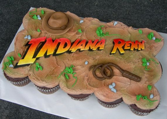 Indiana Jones Cake or Cupcake Cake Toppers by sweetenyourday, $15.00