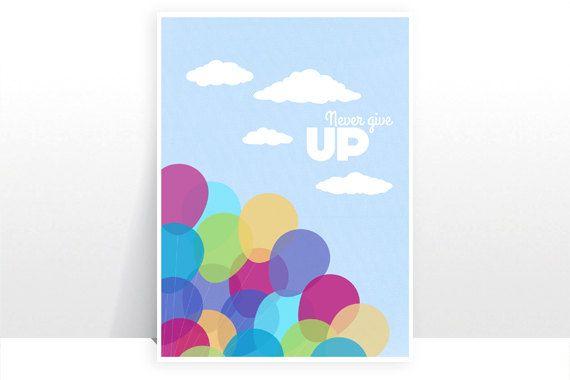 Disney Pixar Up Balloons Balloon Sky Ellie Carl  by TeacupPiranha, £4.50