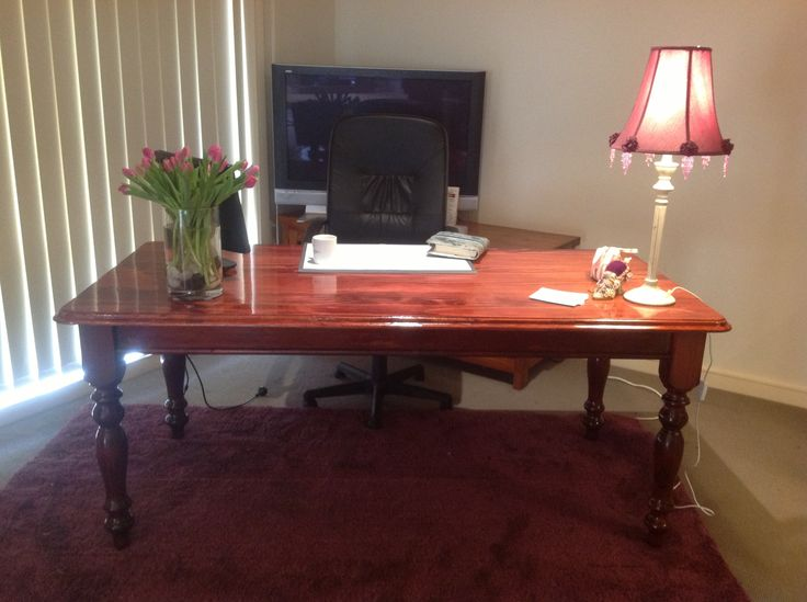 My office at Gowns of Elegance and Grace. The restored desk.