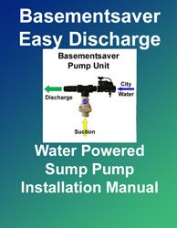 Sump Pump Installation - Installation Manual for the Easy-Discharge option that comes with every WP-Series or HP-Series Water Powered Backup Sump Pump from Basemensaver. FREE Download at: http://www.1stflash.com/files/ESD-Instructions.pdf