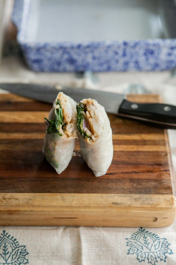 Naturally Ella | Swiss Chard and Spicy Peanut Sauce Spring Rolls ...