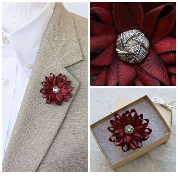 Mens Lapel Flower Mens Flower Lapel Pin Dark by PetalPerceptions