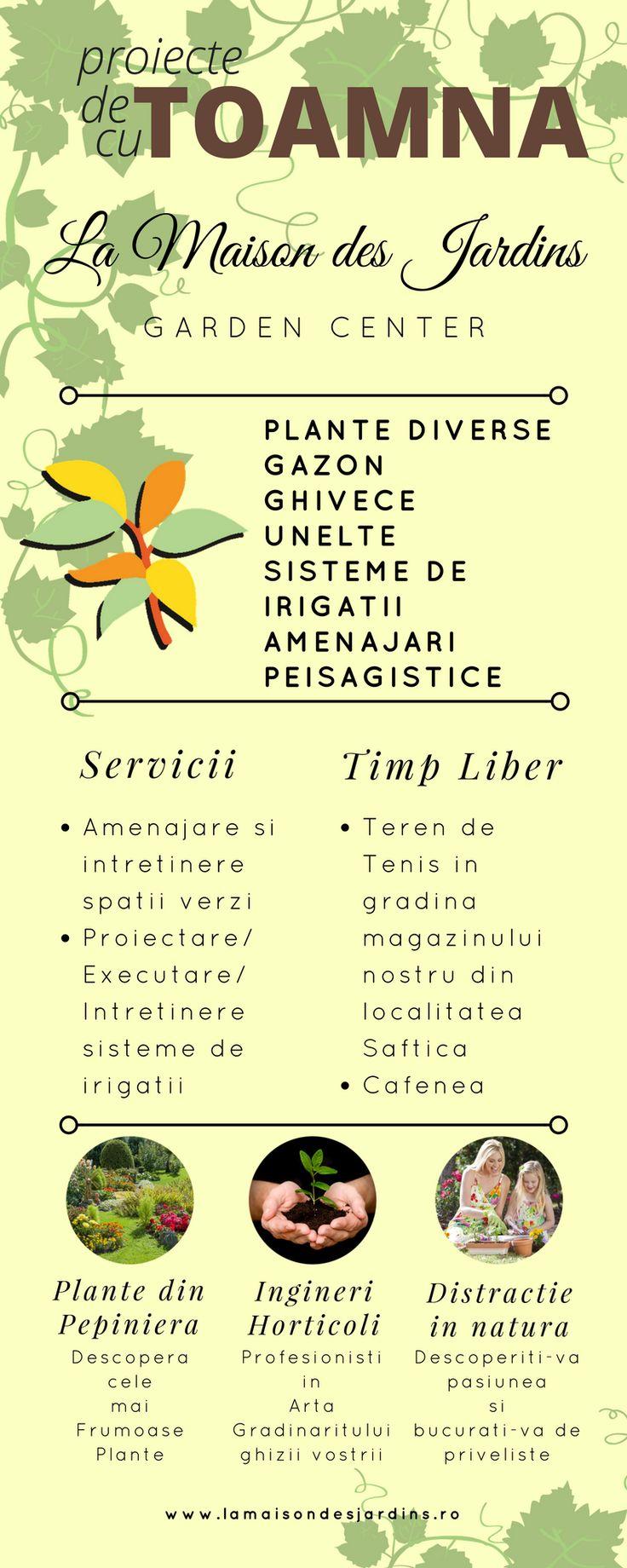 Incepe un Proiect Fabulos Toamna Aceasta!  Plante, gazon, ghivece, unelte, sisteme de irigatii - Toate @ La Maison des Jardins! Va asteptam! :-) #plante, #gazon, #ghivece, #unelte, #sisteme #irigatii, #amenajari #peisagistice #pepiniera #cafenea #tenis www.lamaisondesjardins.ro