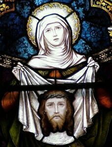 St Veronica in stained glass