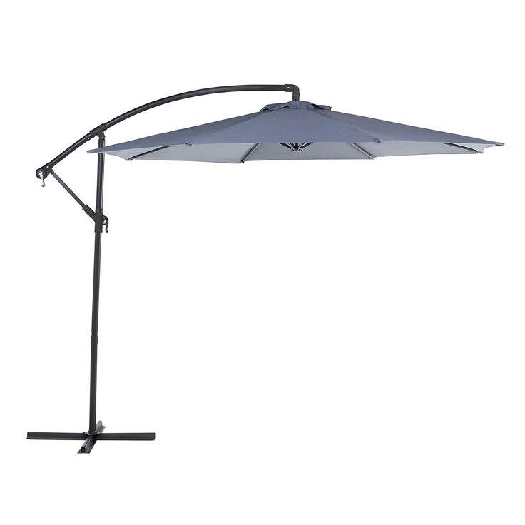Beliani Cantilever Patio Umbrella - Side Post Umbrella - Ravenna Dark