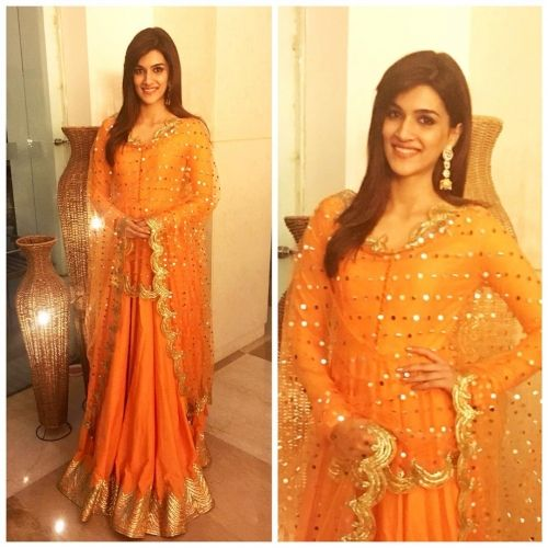 Kriti Sanon wearing an outfit by Sukriti and Aakriti