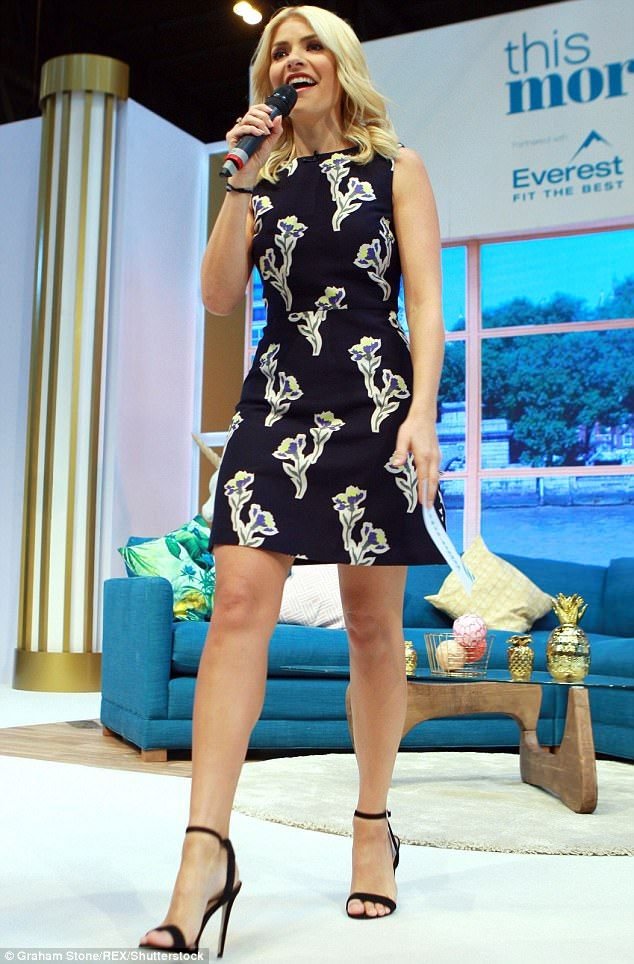 TV queen: Holly Willoughby ensured all eyes were on her as she attended the second day of This Morning Live at the National Exhibition Centre in Birmingham on Friday