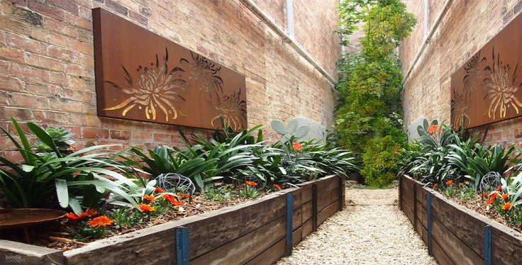 17 best images about landscaped gardens by boodle for Courtyard designs melbourne