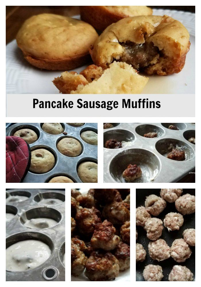 Make breakfast fun with this pancake sausage muffin. Your kids will love it and it makes an easy to go breakfast. - justmeregina.com