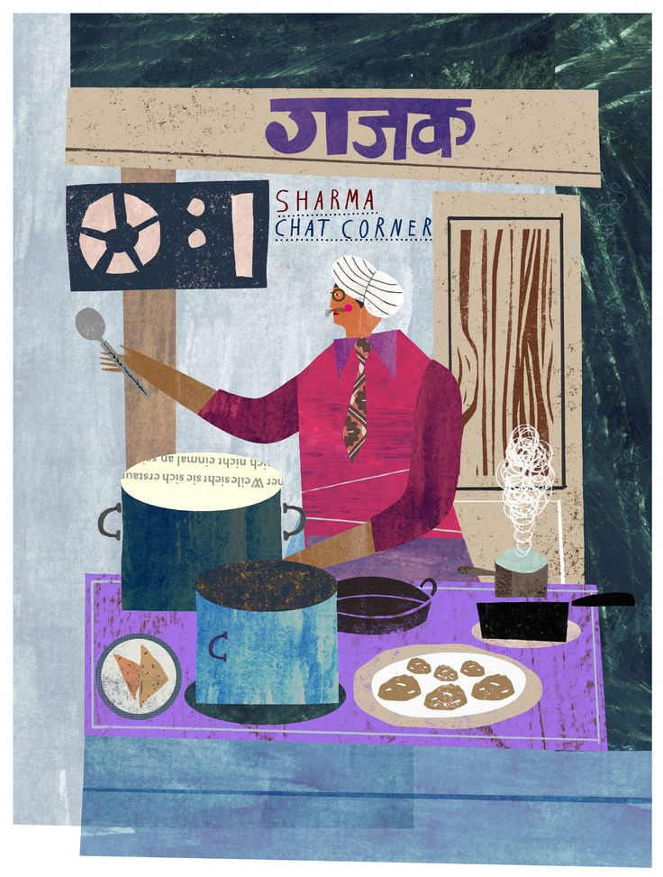 Indian street food for National Geographic – Martin Haake Illustrations