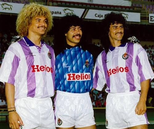 El Pibe, Higuita y Leonel en el Valladolid