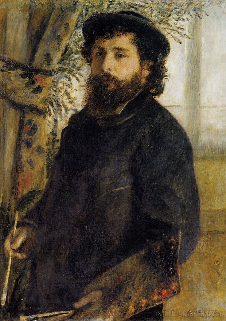 Claude Monet Painting, c.1875 by Pierre-Auguste Renoir