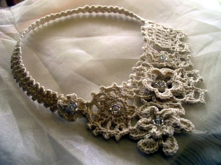 Irish Filigree Crochet Necklace Free Pattern : 17 Best images about Irish crochet jewelry on Pinterest ...