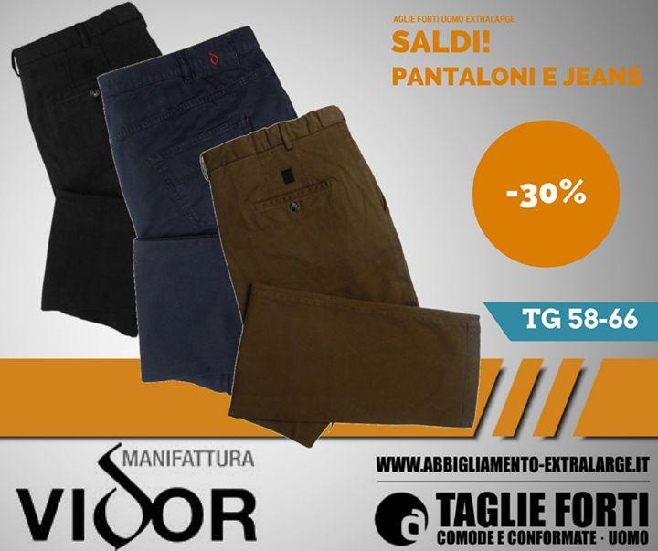 #Sconti fino al 30% su #pantaloni e #jeans #manifattura #vidor  Per un gennaio #extralarge! #granditaglie #modauomo #saldi #saldo #sconto #sconti  http://bit.ly/2hJc8Cf