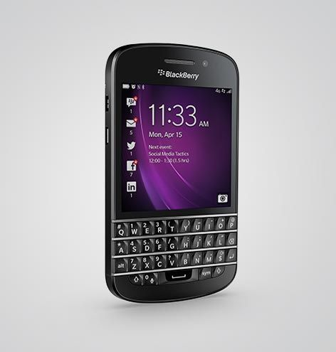 BlackBerry Q10 accessory page. Find all accessories for the BlackBerry Q10 smartphone device.