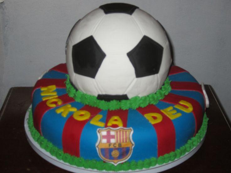 Soccer Barca Cake / Equipo de Futball Barca . Creaciones Reina Sofia Ciudad Ojeda Zulia Venezuela
