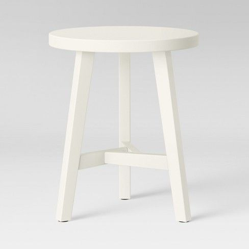 Chase End Table Cream Threshold End Tables Living Room Side Table Metal End Tables