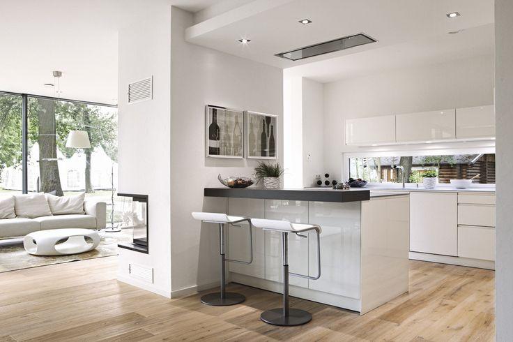 Das Herzstück. #küche #modern #offen #open #glas #weberhaus
