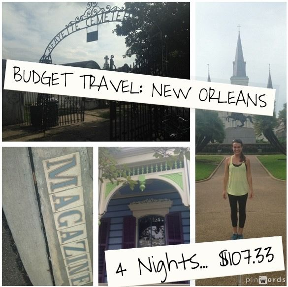 How I spent $107.33 on a four night trip to New Orleans from New York City. budget travel tips, budget travel usa, #travel, #traveltips