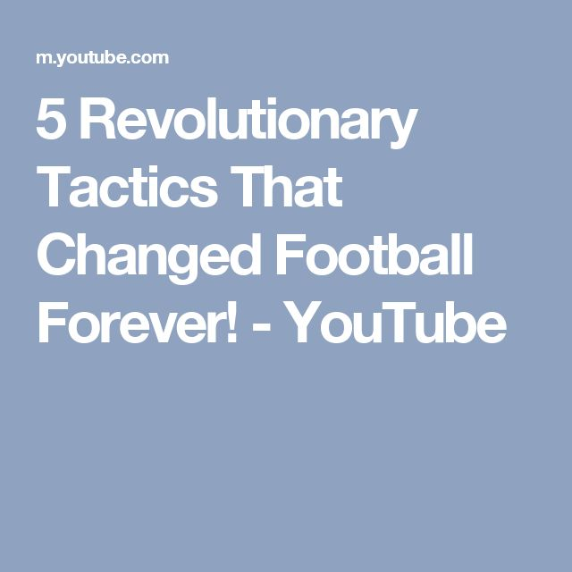 5 Revolutionary Tactics That Changed Football Forever! - YouTube