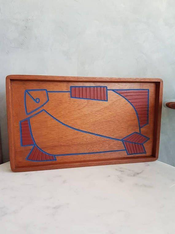 Mira este artículo en mi tienda de Etsy: https://www.etsy.com/es/listing/586046575/mid-century-modern-teak-serving-tray