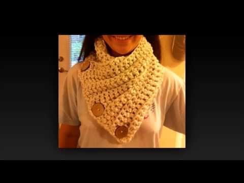 Button Up Cowel Crochet video